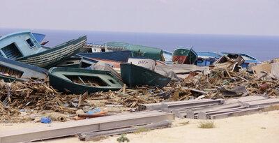 Bateaux à Lampedusa