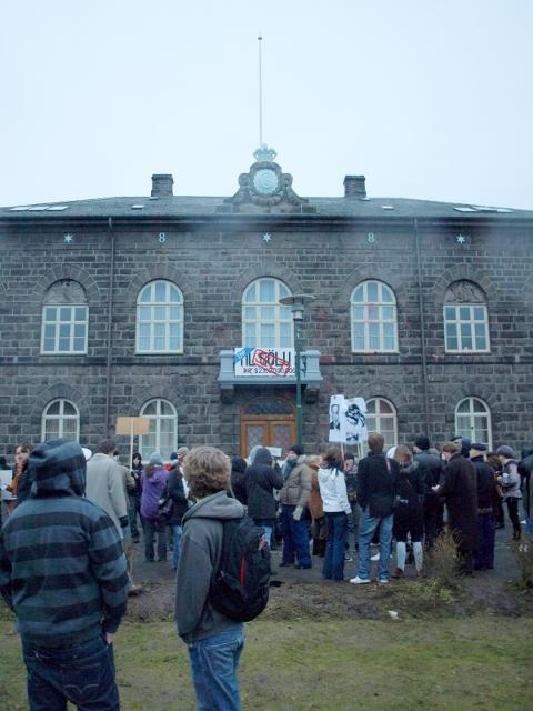 Althingi, Parlement Islandais, manifestation