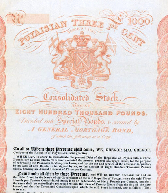 L'emprunt «poyaisien» de 1827