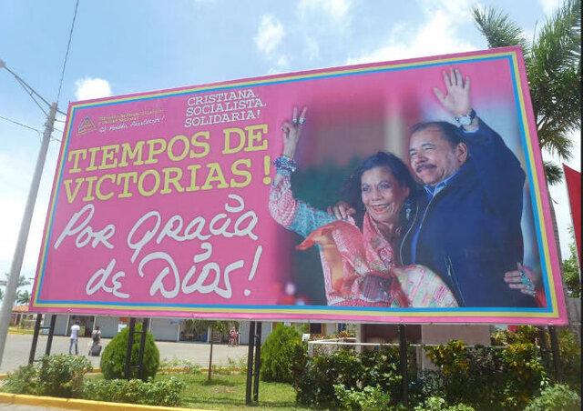 Texte de l'affiche : Chrétienne, socialiste et solidaire. Temps de victoire par la Grâce de Dieu