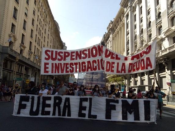 Crónica de una Jornada de Lucha contra el FMI en Argentina
