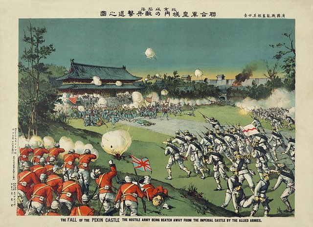 Attack on Peking Palace during Boxer rebellion.